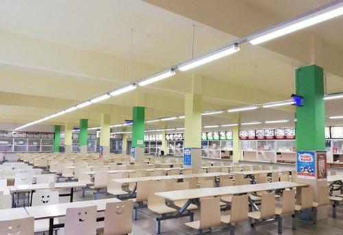成都华夏旅游商务学校食堂环境